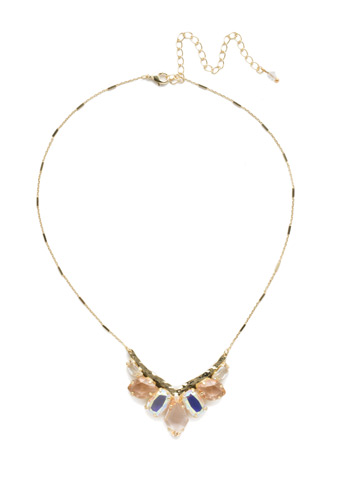 To the Point Necklace in Bright Gold-tone Silky Clouds