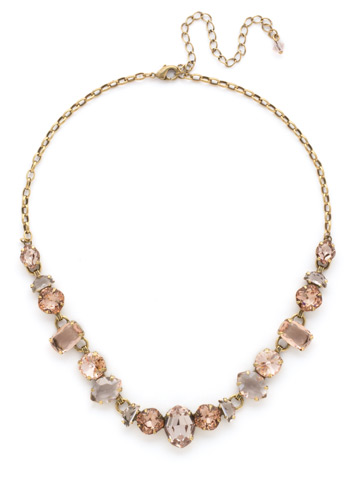 Socialite Statement Necklace in Antique Gold-tone Apricot Agate
