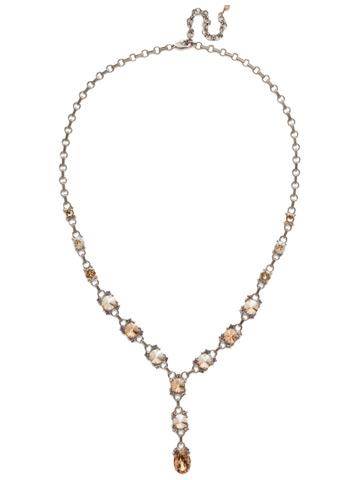 Marigold Necklace in Antique Silver-tone Mirage