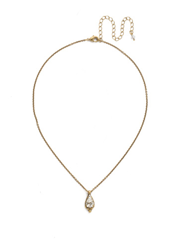 Alina Necklace in Antique Gold-tone Crystal