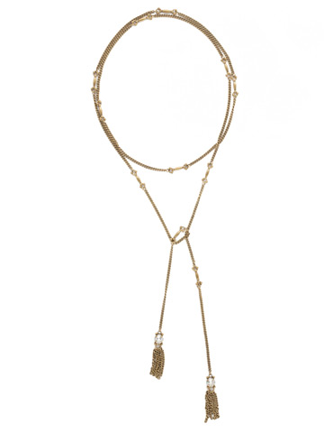 All Tied Up Necklace in Antique Gold-tone Crystal