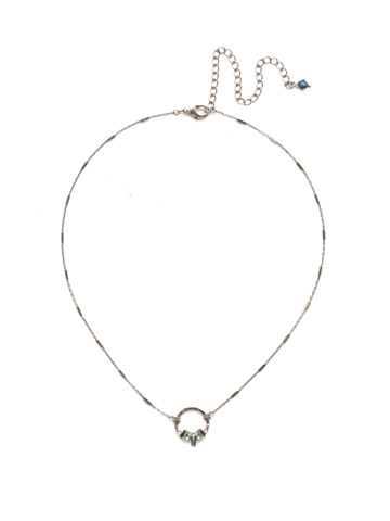 Haute Hammered Necklace in Antique Silver-tone Glory Blue