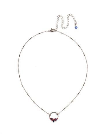 Haute Hammered Necklace in Antique Silver-tone Orange Crush