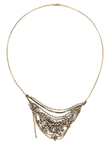 Mixed Metal Necklace in Mixed Metal Crystal