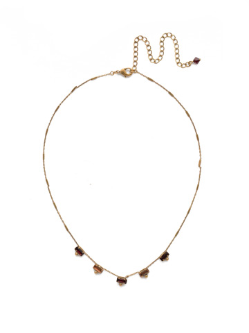 Shine and Dash Necklace in Antique Gold-tone Mighty Maroon