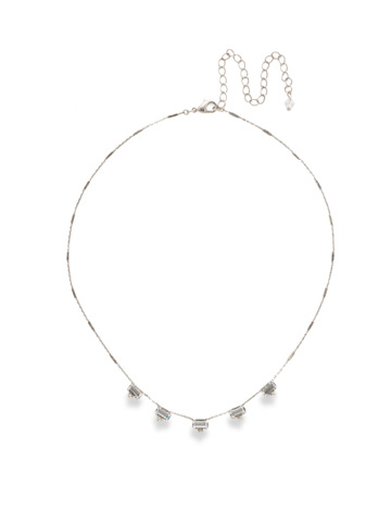 Shine and Dash Necklace in Antique Silver-tone Crystal
