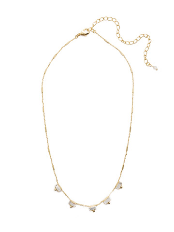 Shine and Dash Necklace in Bright Gold-tone Crystal