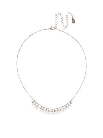 Mini Medallions Necklace in Antique Silver-tone Crystal
