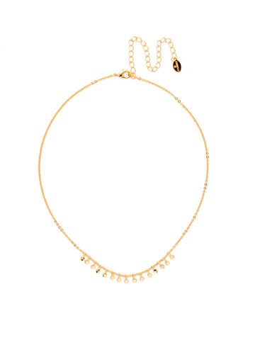 Mini Medallions Necklace in Bright Gold-tone Crystal