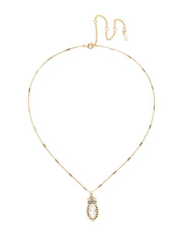 Nostalgic Navette Pendant in Bright Gold-tone Crystal