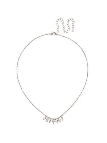 Delicate Dots Necklace in Antique Silver-tone Crystal