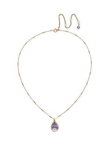 Simply Adorned Pendant in Antique Gold-tone Jewel Tone