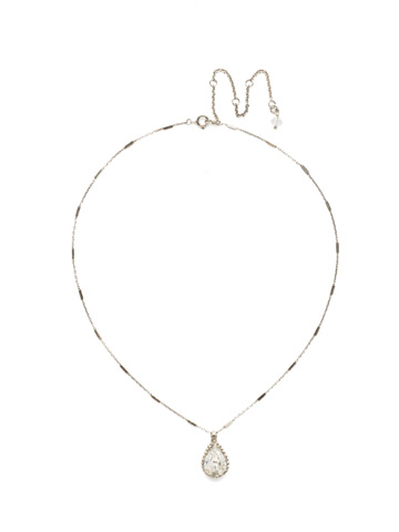 Simply Adorned Pendant in Antique Silver-tone Crystal