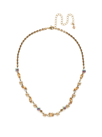 Simply Stated Line Necklace in Antique Gold-tone Neutral Territory