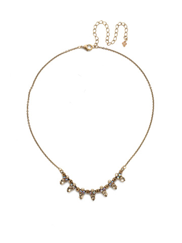 Twinkling Thistle Necklace in Antique Gold-tone Neutral Territory