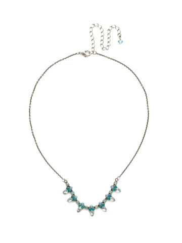 Twinkling Thistle Necklace in Antique Silver-tone Sweet Mint
