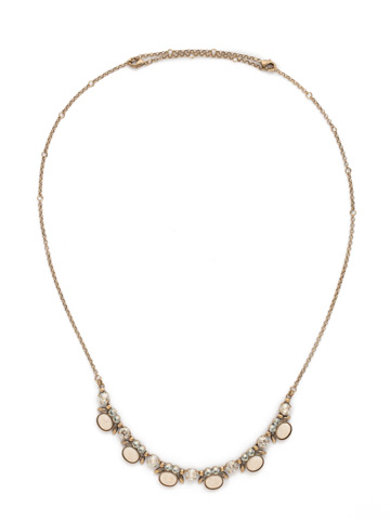 Semi-Charmed Necklace in Antique Gold-tone Coastal Mist