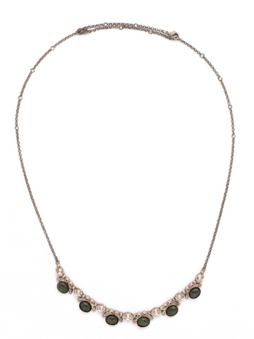 Semi-Charmed Necklace in Antique Silver-tone Army Girl