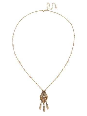 Brilliant Boho Pendant in Antique Gold-tone Neutral Territory