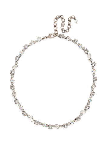 Crystal Collective Necklace in Antique Silver-tone White Bridal