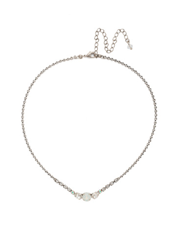 Perfectly Peared Necklace in Antique Silver-tone White Bridal