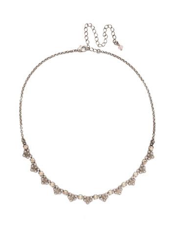 Brilliant Burst Pendant Necklace in Antique Silver-tone Satin Blush