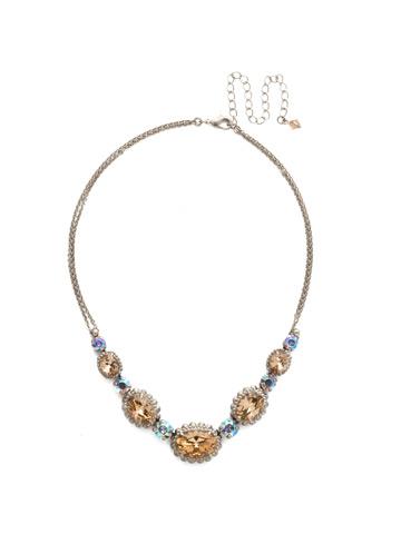 Camellia Necklace in Antique Silver-tone Mirage