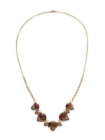 Flora Filigree Necklace in Antique Gold-tone Mahogany