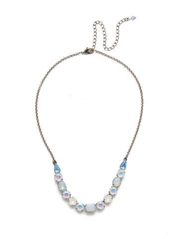 Tansy Half Line Necklace in Antique Silver-tone Glacier