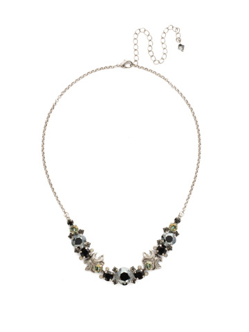 Balsam Necklace in Antique Silver-tone Black Onyx