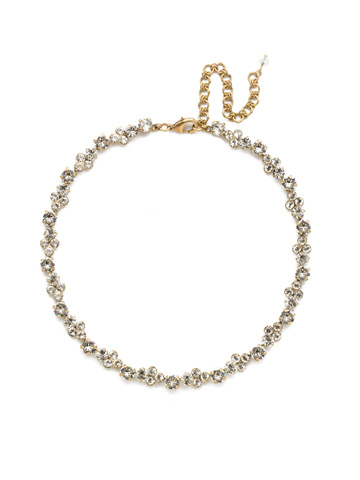 Wisteria Necklace in Antique Gold-tone Crystal