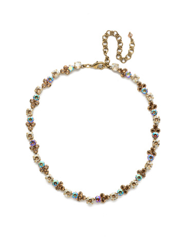 Wisteria Necklace in Antique Gold-tone Neutral Territory