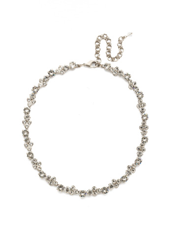 Wisteria Necklace in Antique Silver-tone Crystal