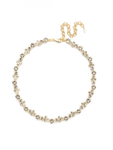 Wisteria Necklace in Bright Gold-tone Crystal