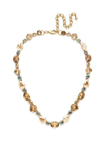 Narcissus Necklace in Antique Gold-tone Neutral Territory