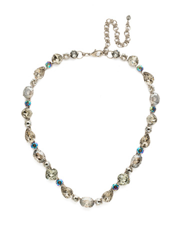 Narcissus Necklace in Antique Silver-tone Crystal Rock