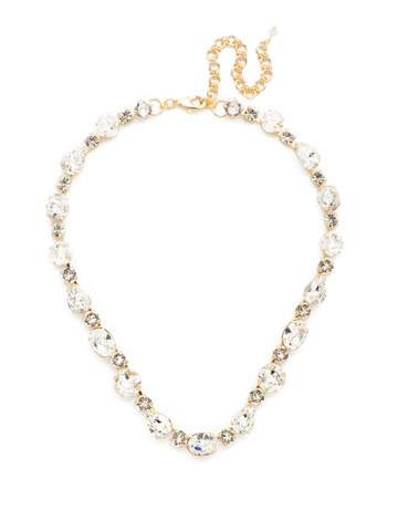 Narcissus Necklace in Bright Gold-tone Crystal