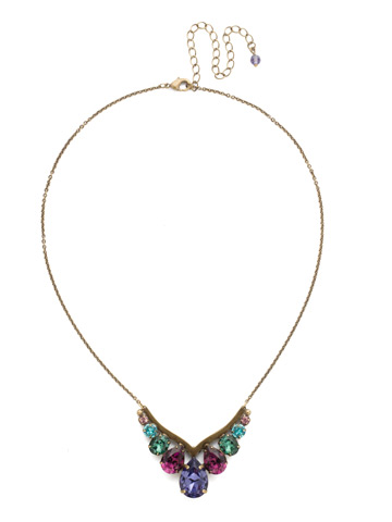 Peared Up Necklace in Antique Gold-tone Jewel Tone