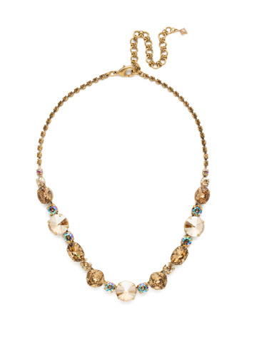 Full Circle Necklace in Antique Gold-tone Neutral Territory
