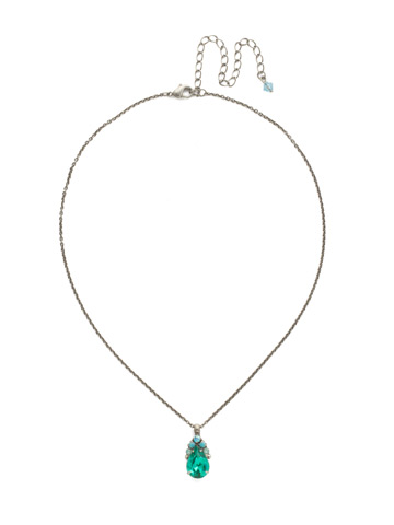Timeless Tiara Necklace in Antique Silver-tone Sweet Mint