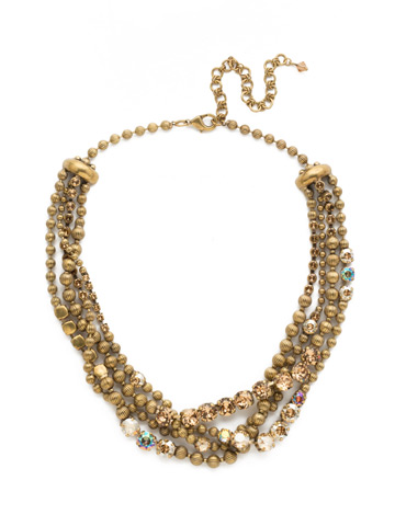 Jessamine Necklace in Antique Gold-tone Neutral Territory