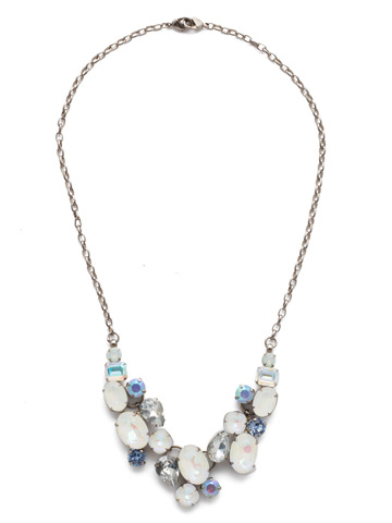 Forget-Me-Not Necklace in Antique Silver-tone Glacier