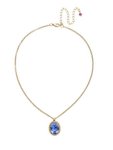 Camellia Pendant Necklace in Antique Gold-tone Wildflower
