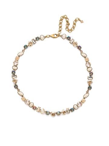 Constantia Necklace in Antique Gold-tone Sandstone