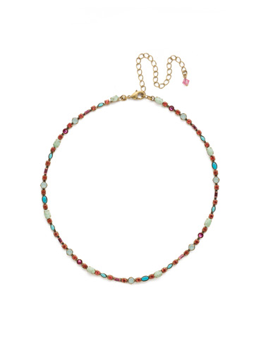 Resort 2018 One-of-a-Kind Necklace in Antique Gold-tone Botanical Brights