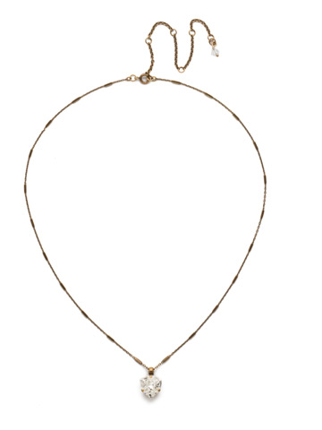 Perfectly Pretty Necklace in Antique Gold-tone Crystal