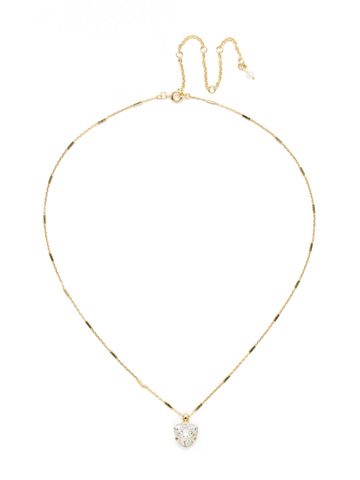 Perfectly Pretty Necklace in Bright Gold-tone Crystal
