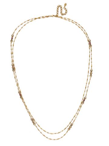 Sage Necklace in Antique Gold-tone Radiant Sunrise