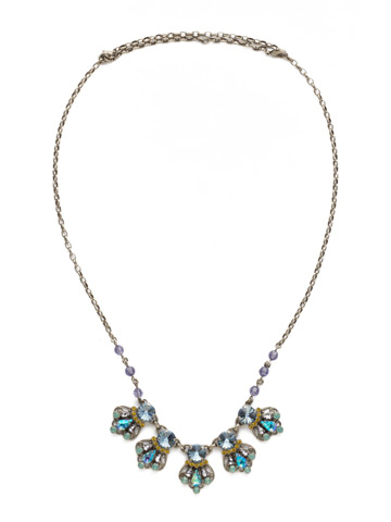 Alstromeria Necklace in Antique Silver-tone Moonlit Shores