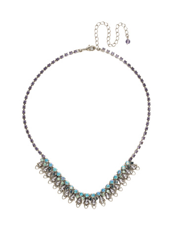 Mallow Necklace in Antique Silver-tone Moonlit Shores